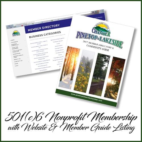 Pinetop-Lakeside Chamber of Commerce 501(c)6 membership (image)