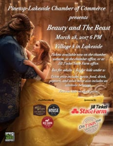 Flick with the Chicks: Beauty and the Beast flier (image)
