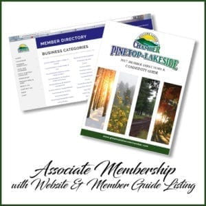 Pinetop-Lakeside Chamber of Commerce associate membership (image)
