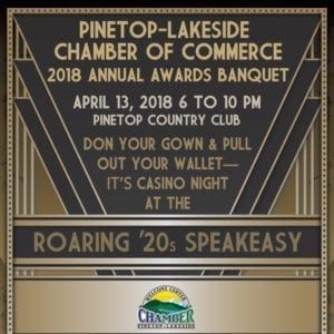 Pinetop-Lakeside Chamber of Commerce Annual Awards Banquet ticket (image)