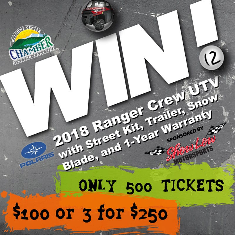 2018 Polaris Ranger Crew® UTV Raffle Tickets