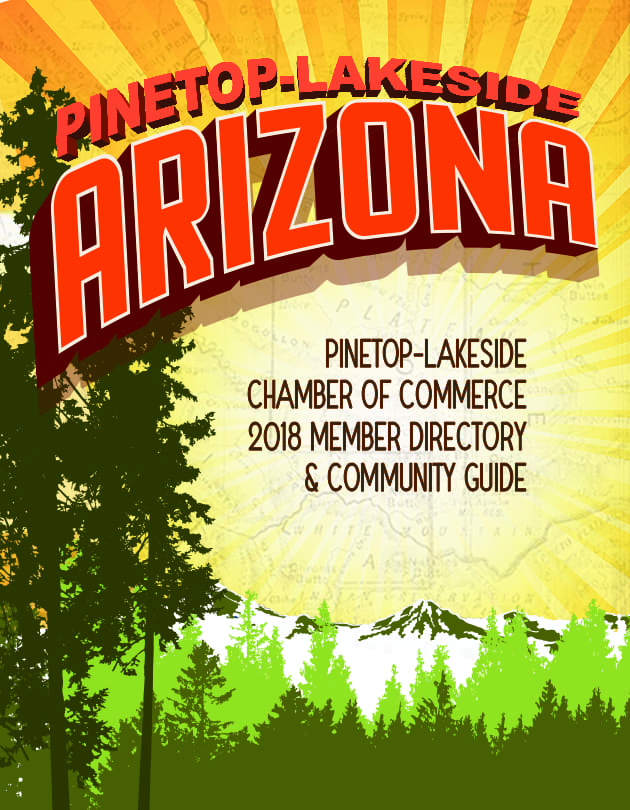 Pinetop-Lakeside Chamber of Commerce 2018 Member Directory & Community Guide cover (image)