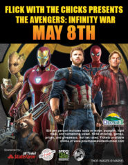 Flick with the Chicks: Avengers: Infinity War flier (image)