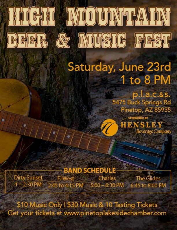 High Mountain Beer & Music Fest flier (image)
