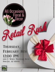 All Occasions Floral & Décor Retail Rush flier (image)