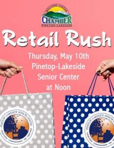 Pinetop-Lakeside Senior Center Retail Rush flier (image)