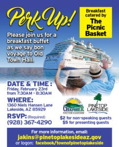 Town of Pinetop-Lakeside Perk Up flier (image)