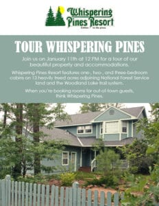 Whispering Pines Business Tour flier (image)