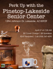 Pinetop-Lakeside Senior Center Perk Up flier (image)