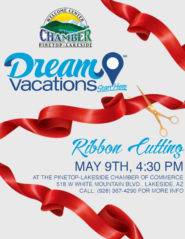 Dream Vacations ribbon cutting flier (image)