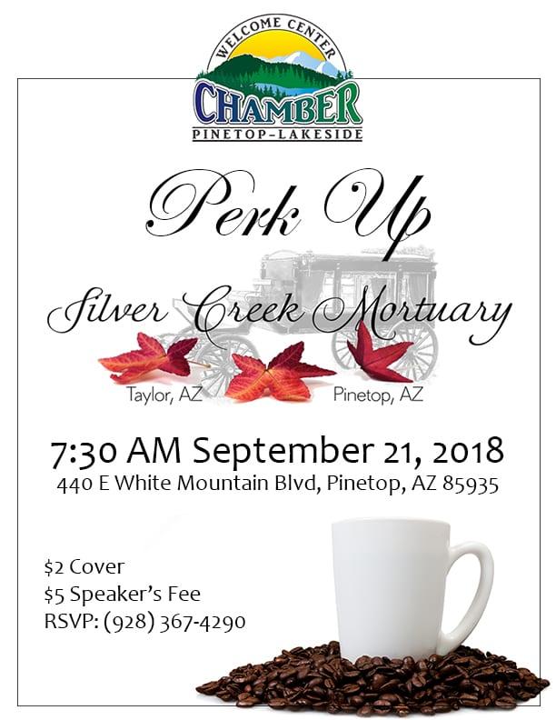 Silver Creek Mortuary Perk Up flier (image)