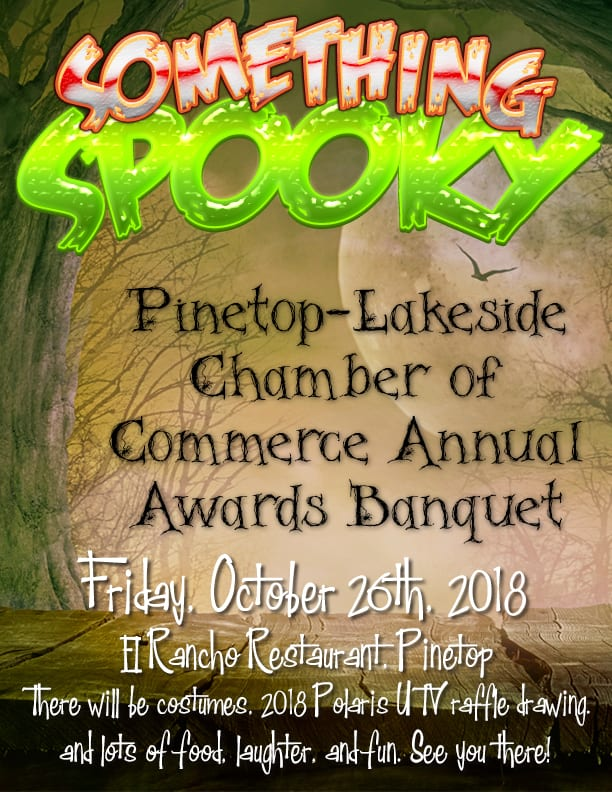Pinetop-Lakeside Chamber of Commerce Annual Banquet Halloween Party flier (image)