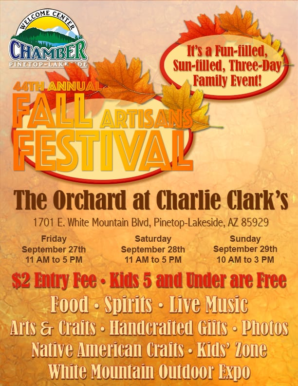44th Annual Fall Artisans Festival flier (image)
