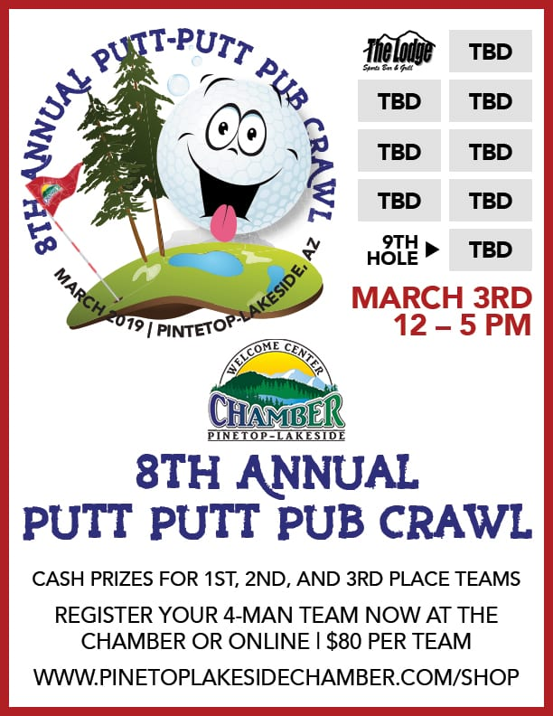 8th Annual Putt Putt Pub Crawl flier (image)