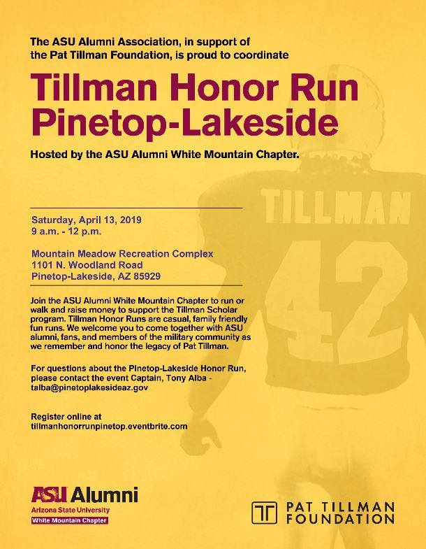 Tillman Honor Run flier (image)