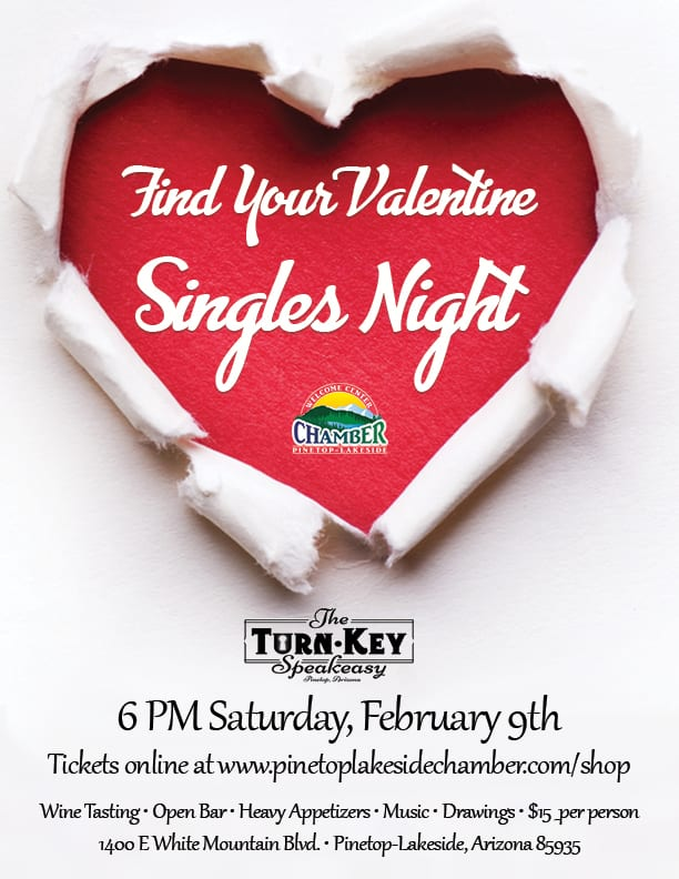 Find Your Valentine Singles Night flier (image)