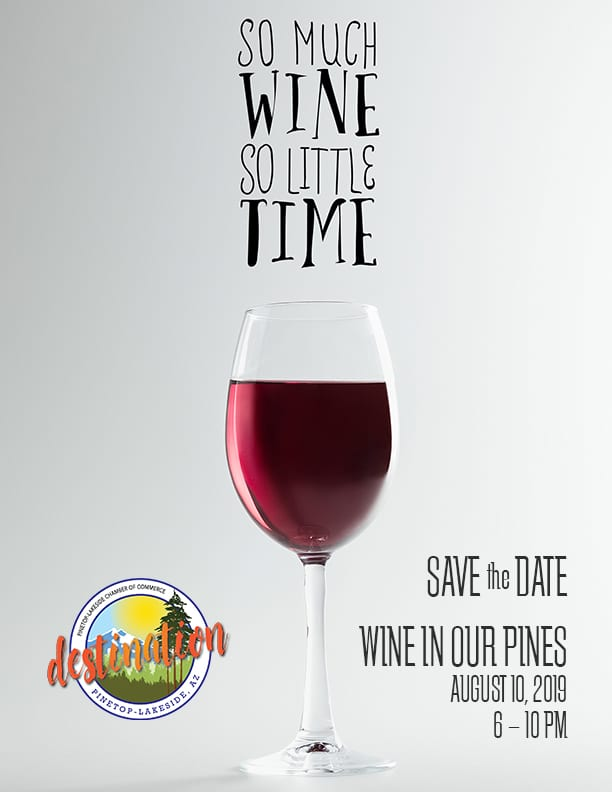 Discover Series: Wine in Our Pines flier (image)