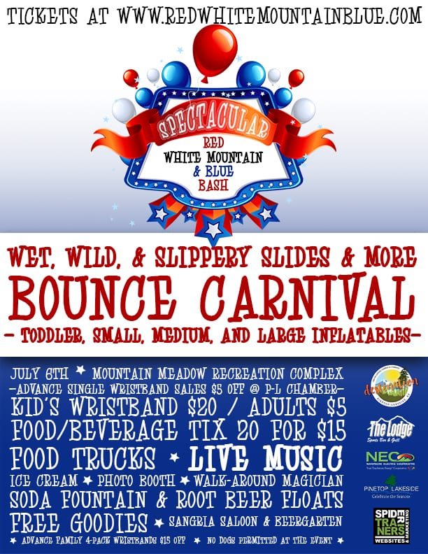 Spectacular Red, White Mountain, & Blue Bash flier (image)