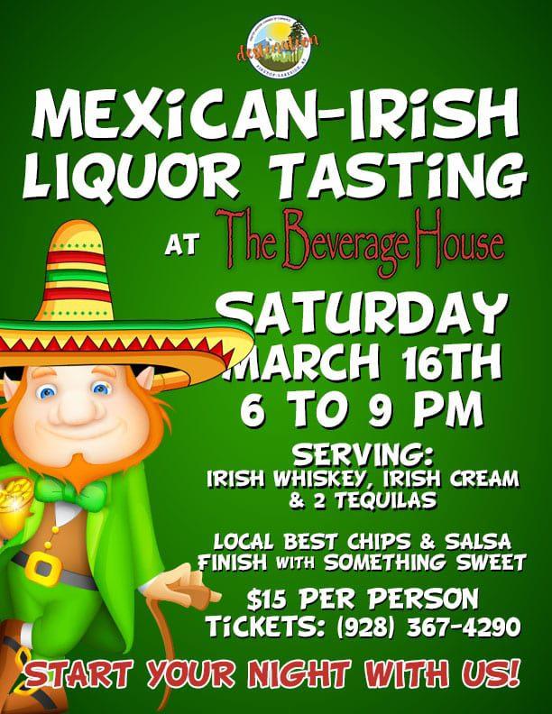 Mexican-Irish Liquor Tasting flier (image)