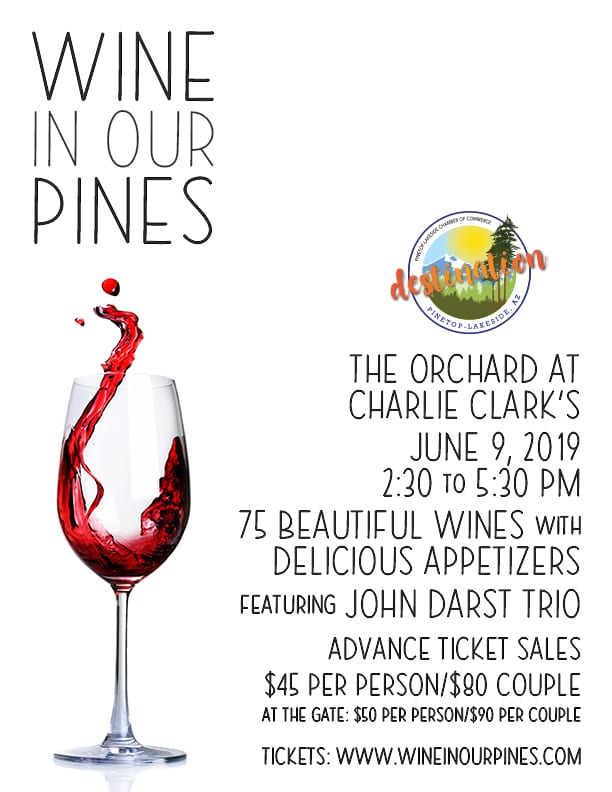 Wine in Our Pines flier (image)