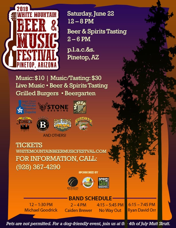 White Mountain Beer & Music Festival flier (image)