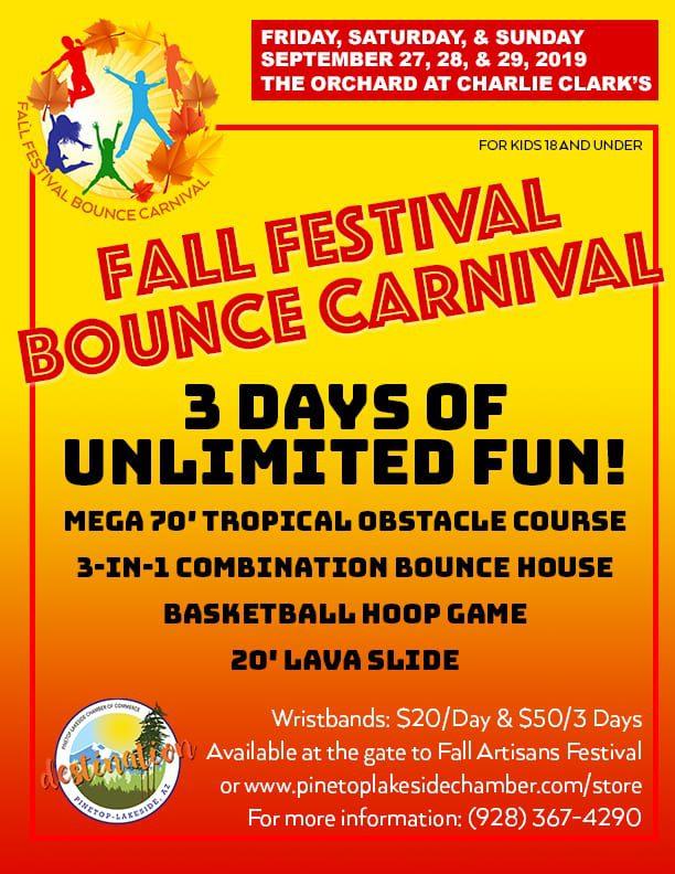 Fall Festival Bounce Carnival flier (image)