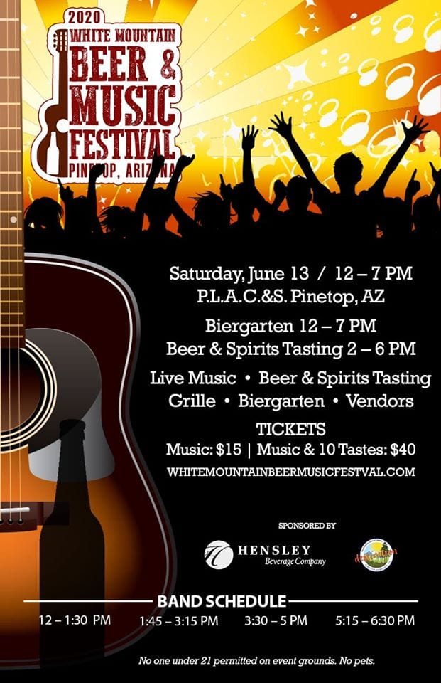 White Mountain Beer & Music Festival flier