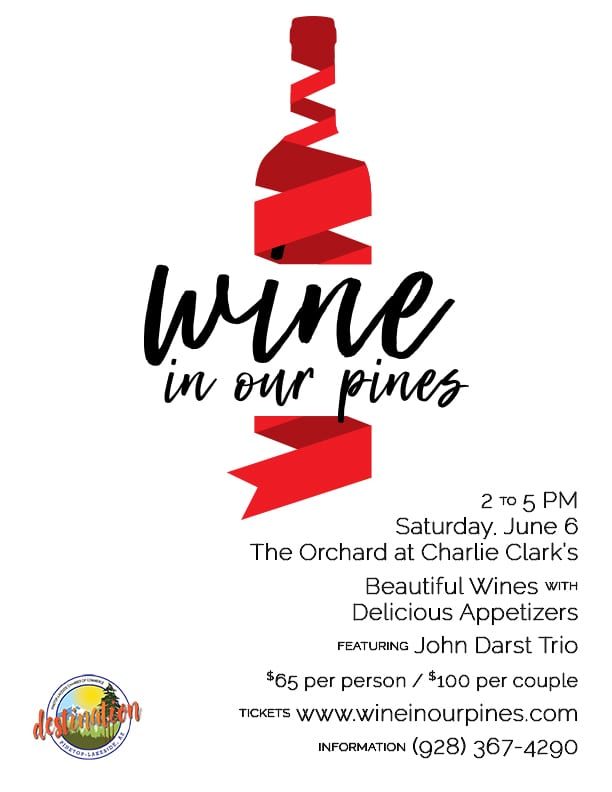 2nd Annual Wine in Our Pines flier