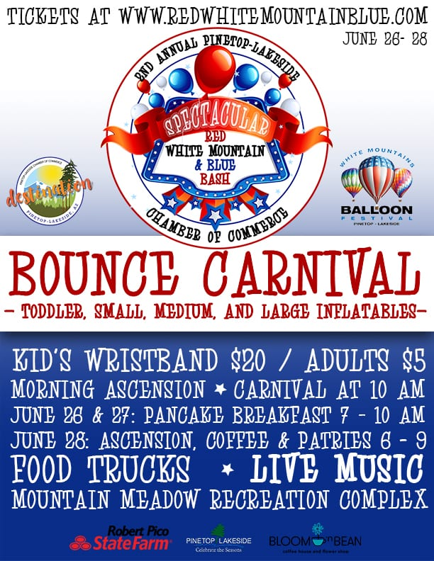 Spectacular Red, White Mountain, & Blue Bash flier