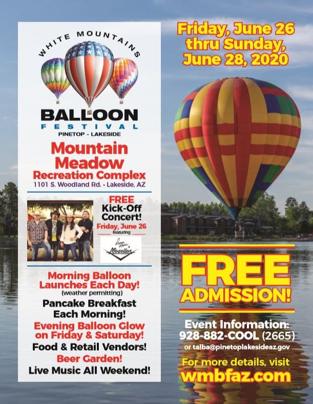 White Mountain Balloon Festival flier