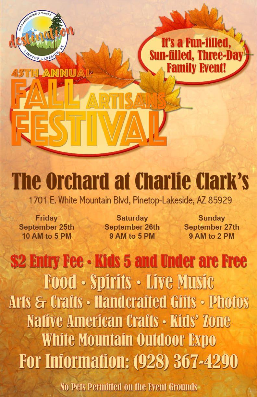 45th Annual Fall Artisans Festival poster